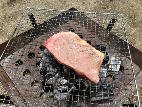 紀州加太オートキャンプ場_ステーキ肉