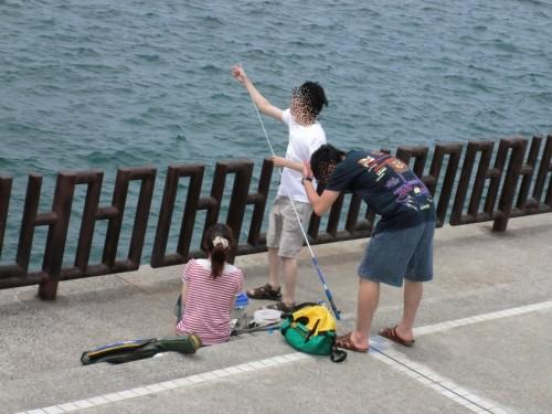 和歌山マリーナシティ2011_釣り準備中