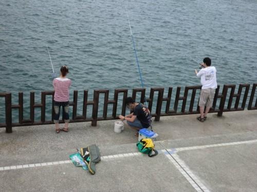 和歌山マリーナシティ2011_釣り人3人衆