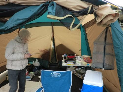 初の南淡路シーサイドキャンプ場_タープ内