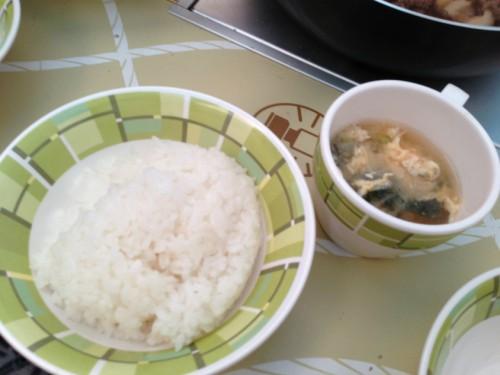 2013宮崎白浜AC_ご飯と味噌汁